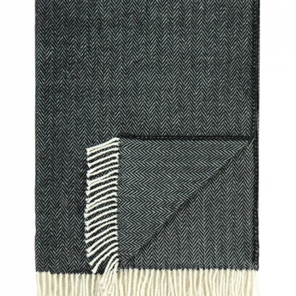Midnight Scalamandre Herringbone Throw