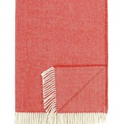 Rouge Scalamandre Herringbone Throw