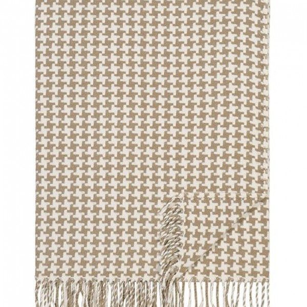 Camel Houndstooth Charing Cross Throw