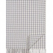Grey Houndstooth Throw