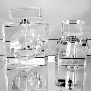 Modern Morocco Collection Reusable Glass Perfume Bottle — Rectangle