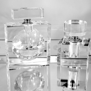 Reusable Glass Perfume Bottle — Cube