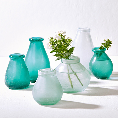 Artisan Sea Glass Vases