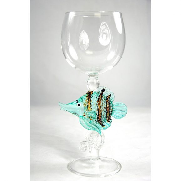 Angelfish Wine Glass