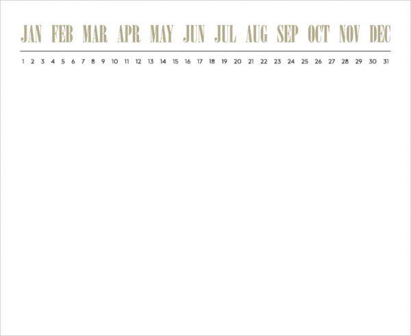 Black Ink Luxe Calendar Memo Pad