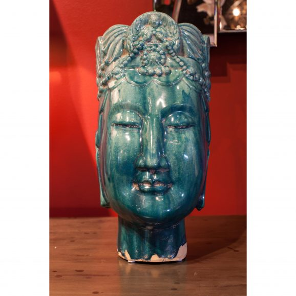 Ceramic Buddha Head #3