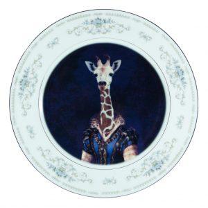 Courtier Zarafa Giraffe Plate