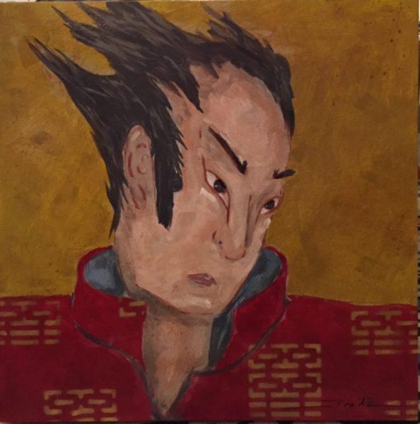 Fritz Stinebaugh Takahiro Oil Painting