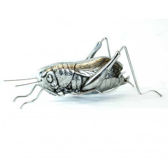 Decorative Pewter Grasshopper