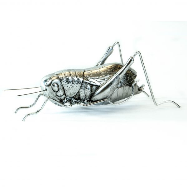 Decorative Pewter Grasshopper
