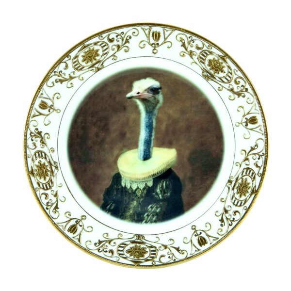 Marquise de Struthio Ostrich Plate