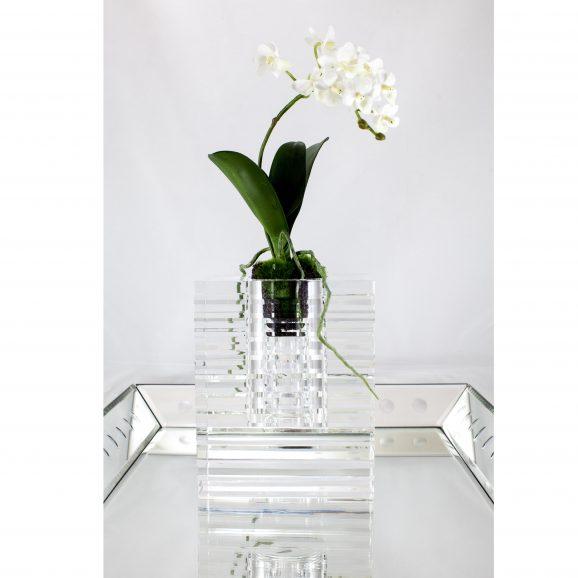 Veritas Glass Vase with Cuts