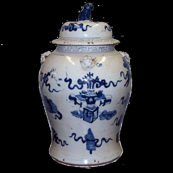 Large Porcelain Temple Jar