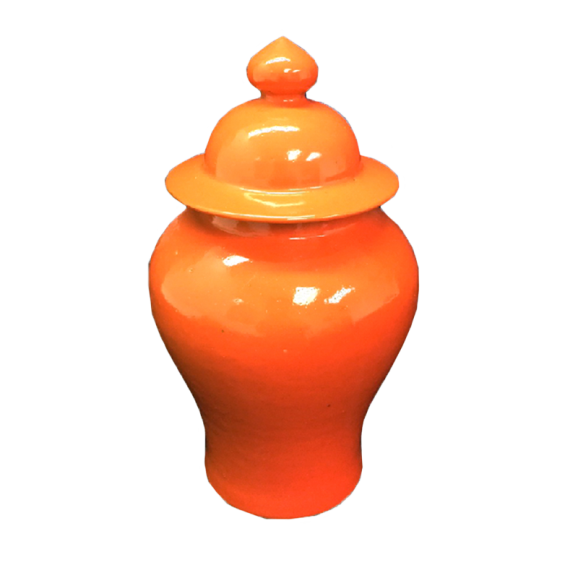 Orange Temple Jar