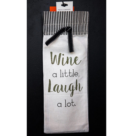Wine a Little Laugh A Lot Wine Gift Bag