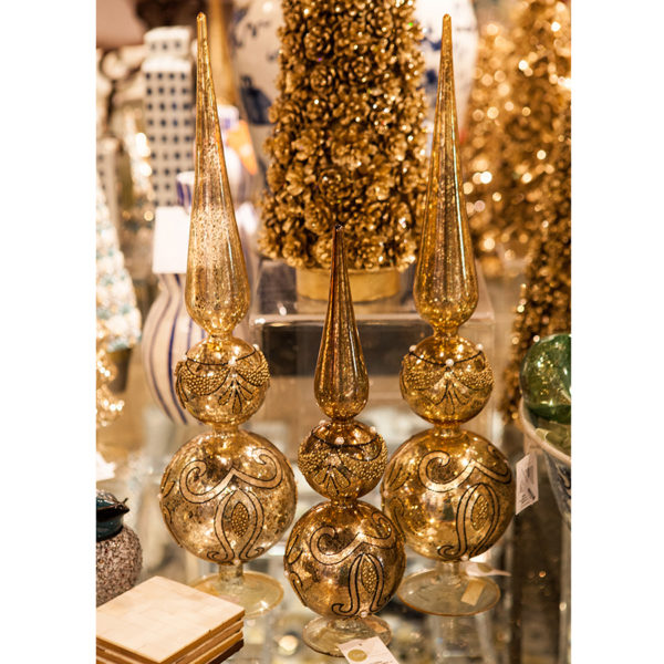 Baroque Glitter Gold Finial