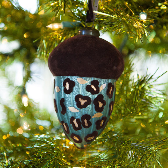 Leopard Acorn Ornament