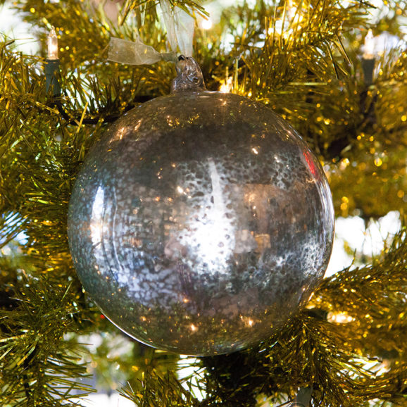 Mercury Glass Orb Ornament