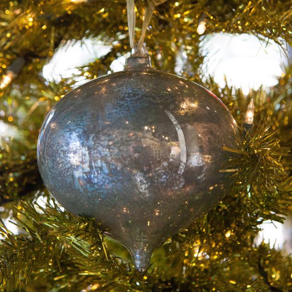 Antiqued Onion Glass Ornament