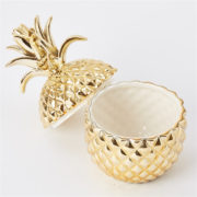 Gold Pineapple Jar Inside