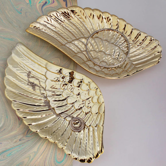Gold Angel Wing Dish Set