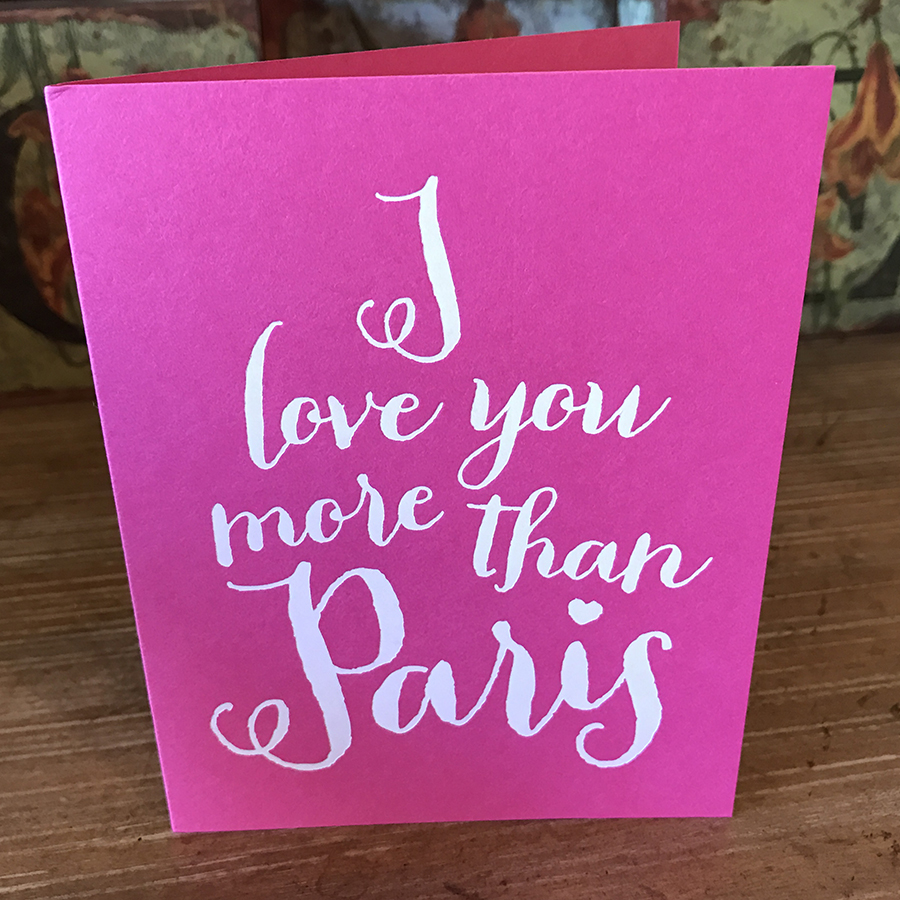 I Love You More Than Paris Card Greeting Cards Collage Home