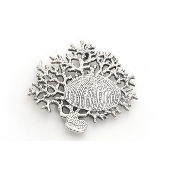 Coral and Shell Trivet