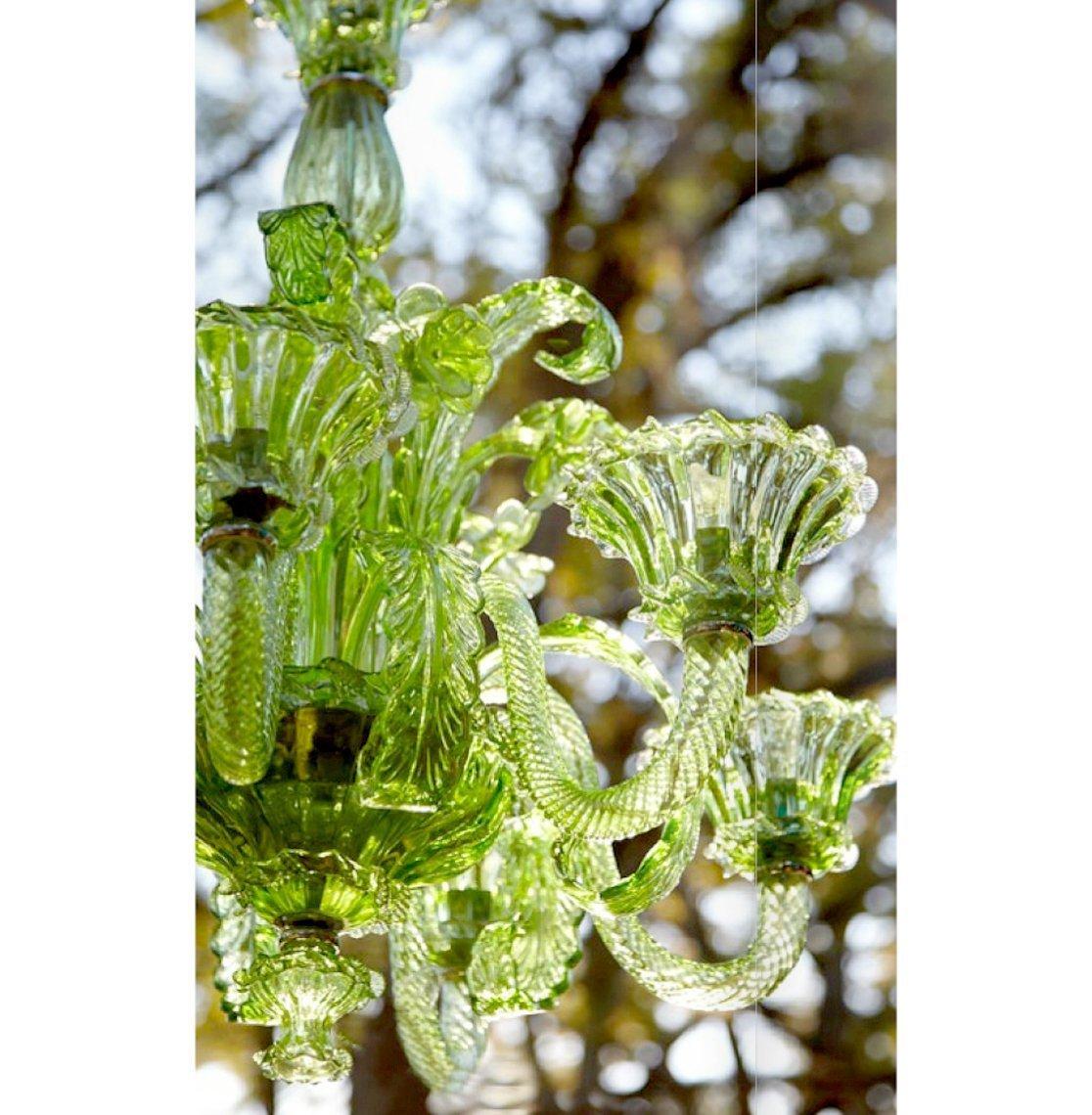 La scala green murano glass chandelier collage home murano glass chandelier detail aloadofball Images