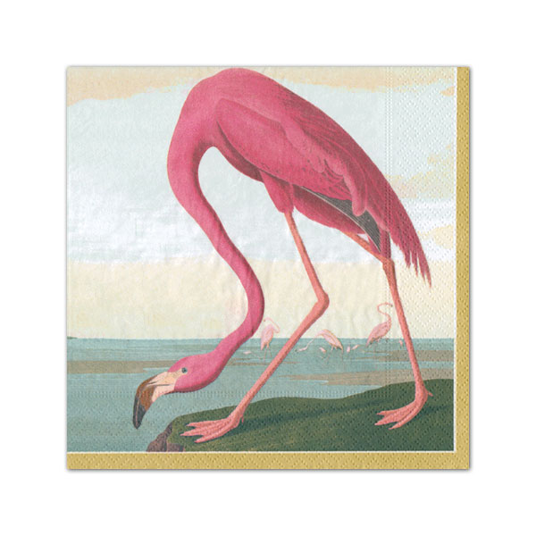 Caspari Flamingo Cocktail Napkins