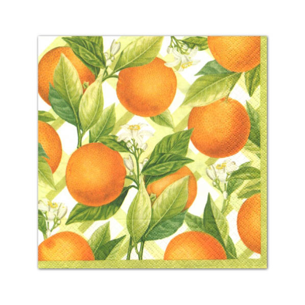 Caspari Orangerie Cocktail Napkins