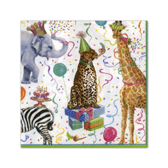 Caspari Party Animal Cocktail Napkins