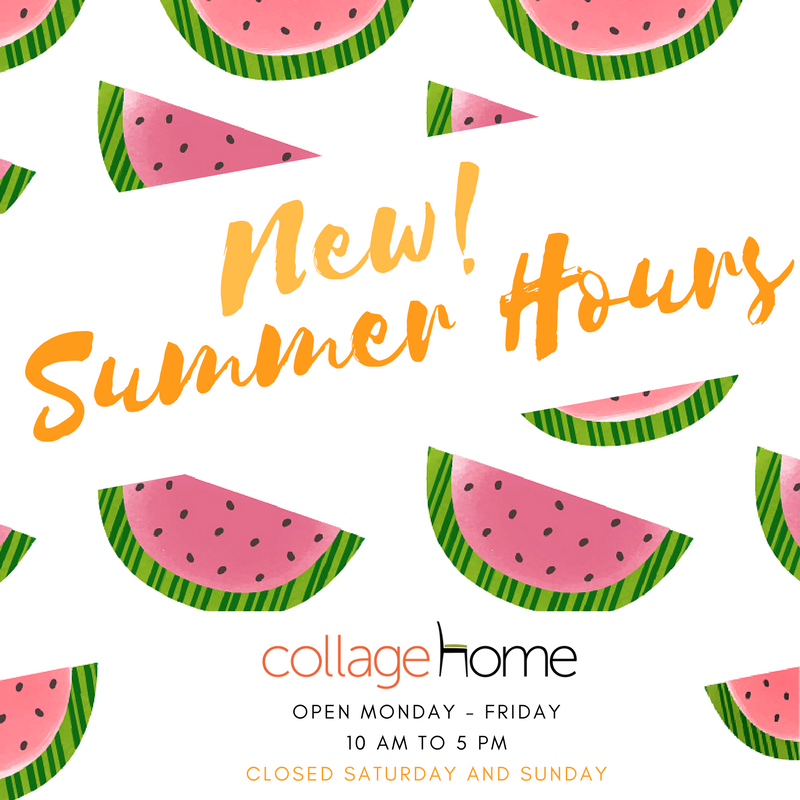 Collage Home Summer Hours
