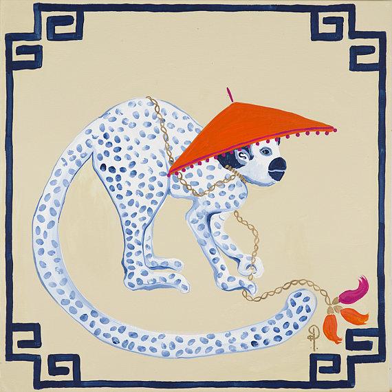 Monkey in Hat Pillow