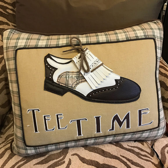 Tee Time Golf Pillow