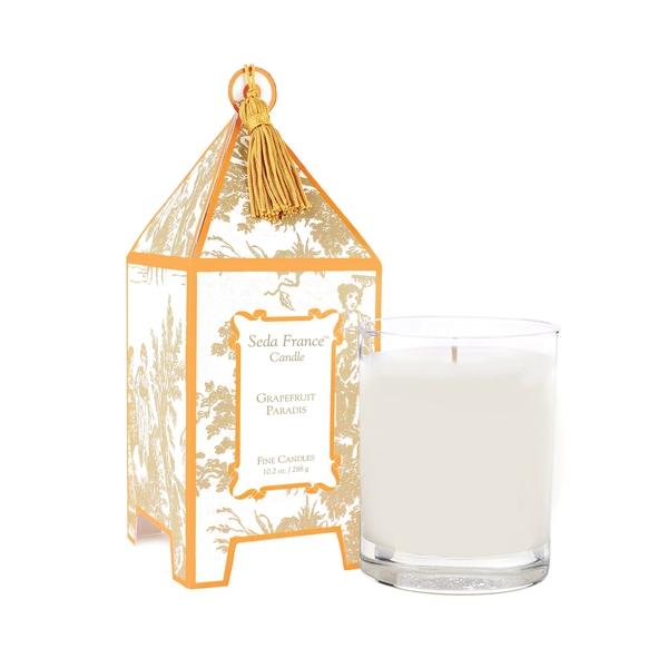 Grapefruit Paradis Classic Toile Pagoda Box Candle