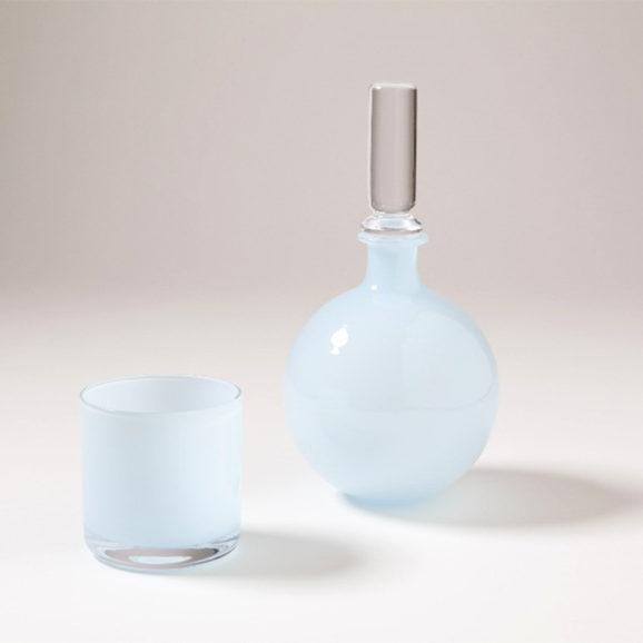 Opaline Blue Bedside Carafe