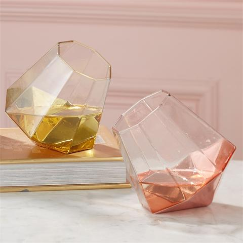 Diamond Highball Glasses
