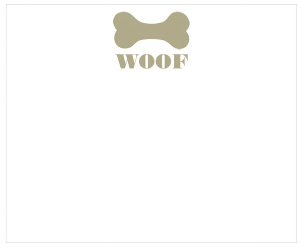 Black Ink Woof Memo Pad