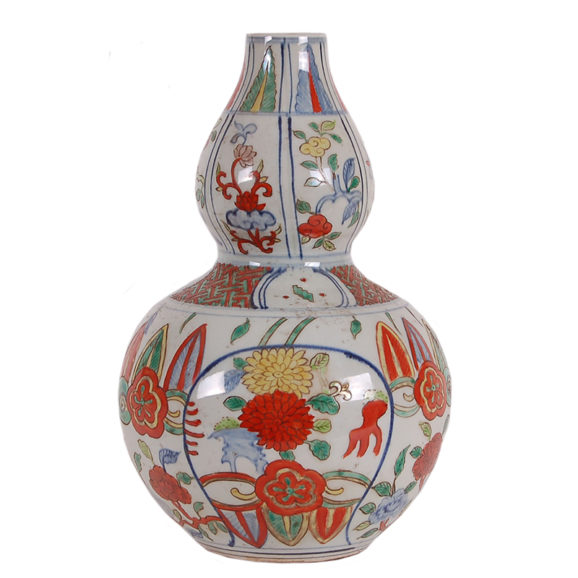 Multi-Color Double Gourd Porcelain Vase