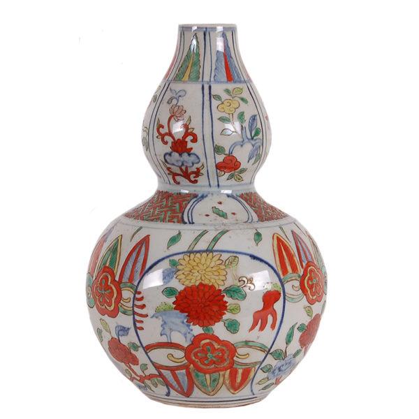 Multi-Color Double Gourd Porcelain Vase