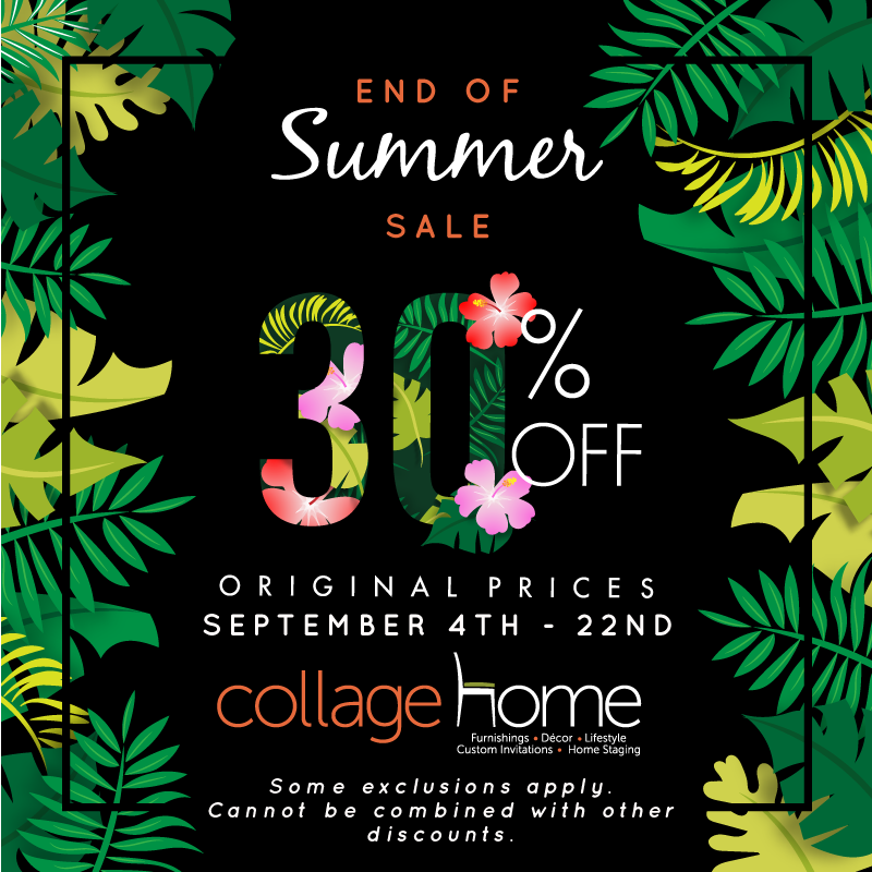 Collage Home End of Summer Sale