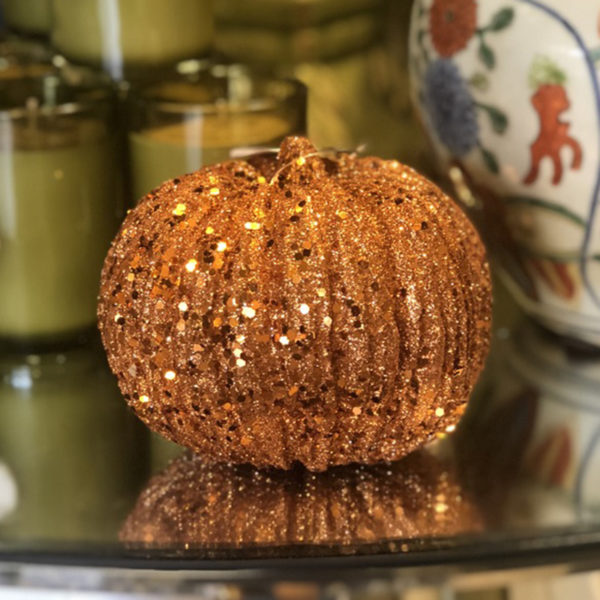 Orange Glitter and Sequin Pumpkin