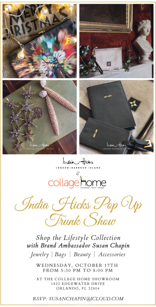 India Hicks Trunk Show at Collage Home