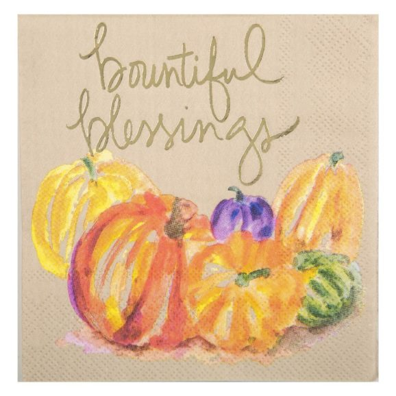 Bountiful Blessings Beverage Napkins