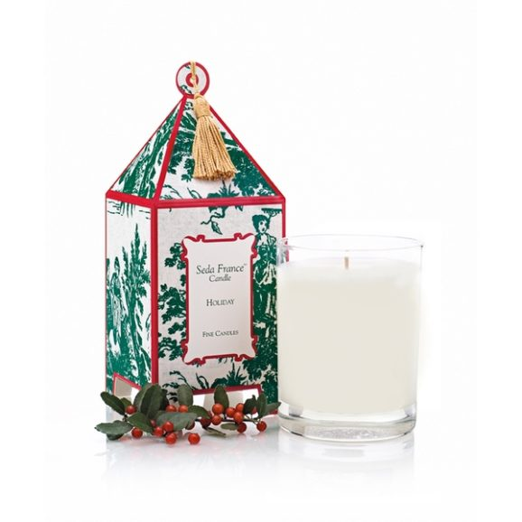 Seda France Holiday Classic Toile Pagoda Box Candle