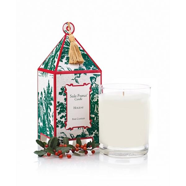 Seda France Holiday Classic Toile Pagoda Box Candle