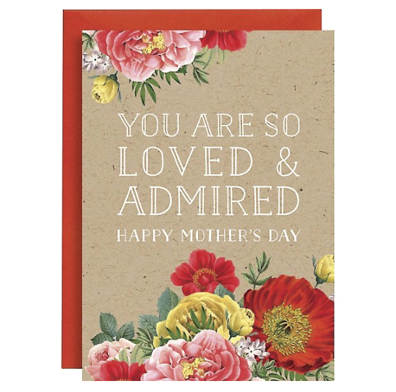 Loved & Admired Mother's Day Card